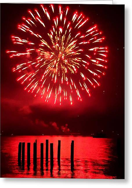 Steilacoom Greeting Cards - Fiery Fourth Greeting Card by Peter Mooyman