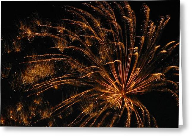 4th July Photographs Greeting Cards - Fiery Greeting Card by Rhonda Barrett