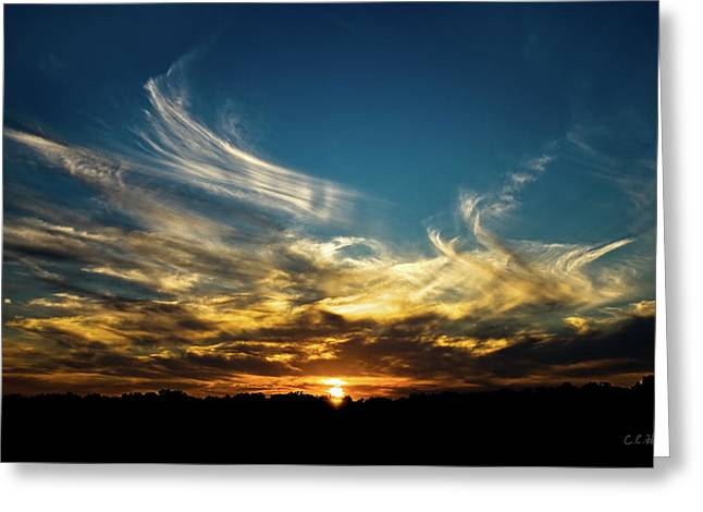 Christopher Holmes Greeting Cards - Fiery Sunset Greeting Card by Christopher Holmes