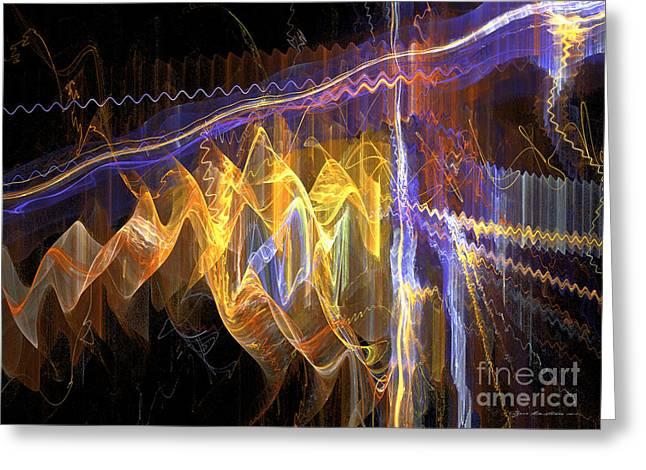 Interior Still Life Mixed Media Greeting Cards - Fiesta - abstract art Greeting Card by Abstract art prints by Sipo