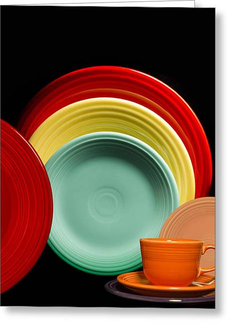 Table Setting Greeting Cards - Fiesta Fun Greeting Card by Peter Chilelli