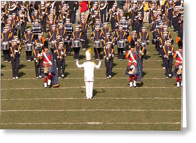 Marching Band Greeting Cards - Fighting Irish Band Greeting Card by David Bearden