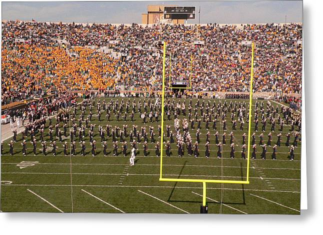 Marching Band Greeting Cards - Fighting Irish Marching Band Greeting Card by David Bearden