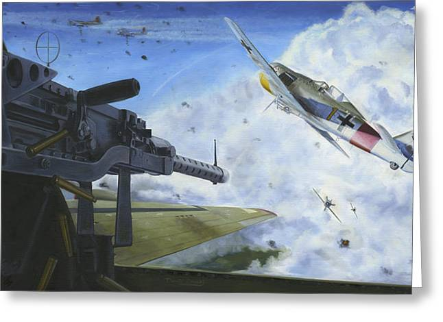 .50 Caliber Greeting Cards - Fights On Greeting Card by David Gorski