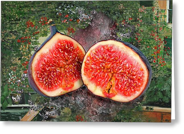 Fruit Tree Art Greeting Cards - Figs Greeting Card by Manfred Lutzius