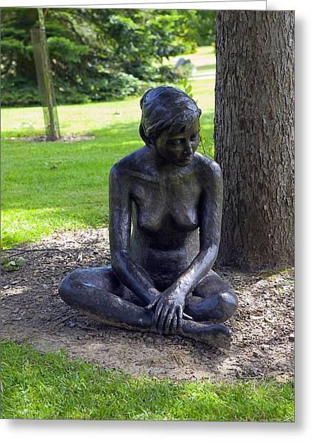 Figurative Sculpture Greeting Cards - Figurative Sculpture Of A Woman Greeting Card by Dr Keith Wheeler