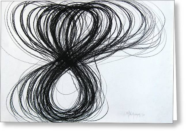 Figs Drawings Greeting Cards - Figure-Eight Study Number Eight Greeting Card by Michael Morgan