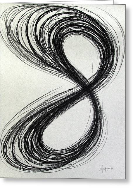 Figure Eight Study Number Eleven Greeting Card by Michael Morgan