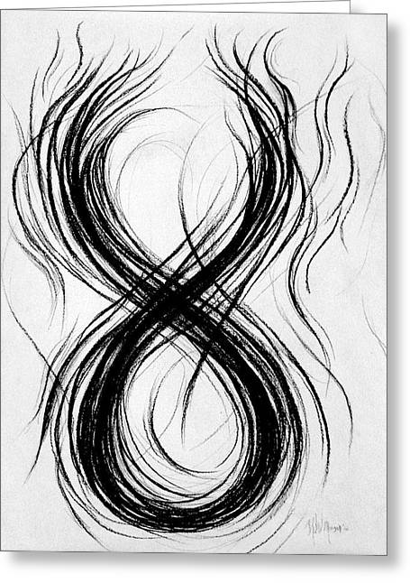 Figs Drawings Greeting Cards - Figure-Eight Study Number Nine Greeting Card by Michael Morgan