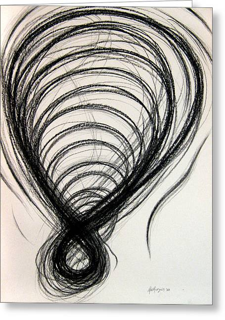 Figs Drawings Greeting Cards - Figure Eight Study Number Twelve Greeting Card by Michael Morgan