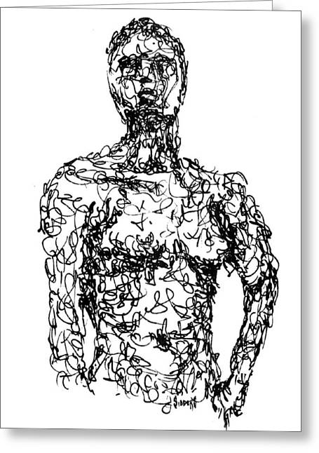 Figure Greeting Cards - Figure Greeting Card by Sam Sidders