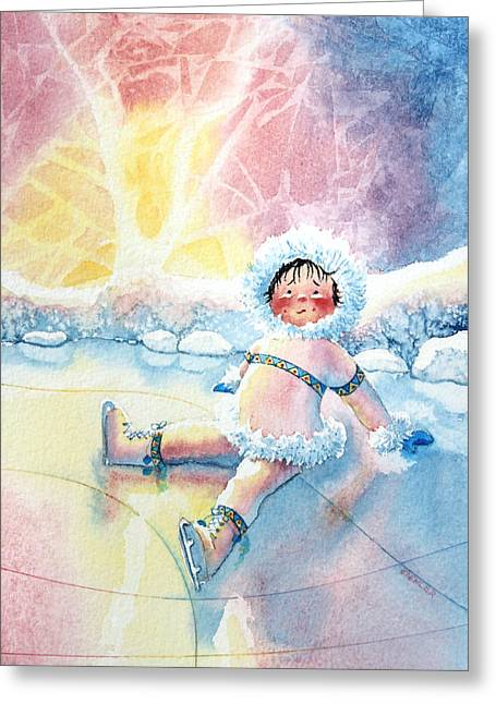 Order Kids Book Illustrations Greeting Cards - Figure Skater 10 Greeting Card by Hanne Lore Koehler
