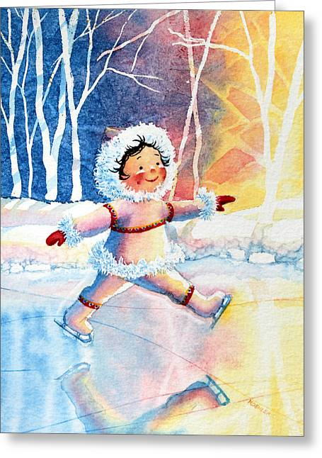 Order Kids Book Illustrations Greeting Cards - Figure Skater 11 Greeting Card by Hanne Lore Koehler