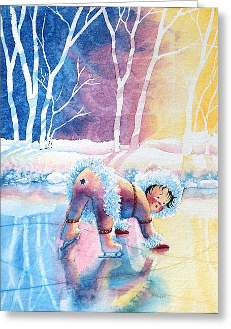 Order Kids Book Illustrations Greeting Cards - Figure Skater 12 Greeting Card by Hanne Lore Koehler