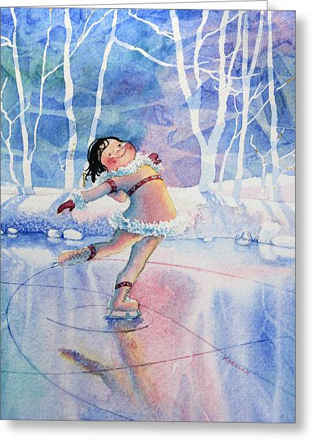 Order Kids Book Illustrations Greeting Cards - Figure Skater 14 Greeting Card by Hanne Lore Koehler