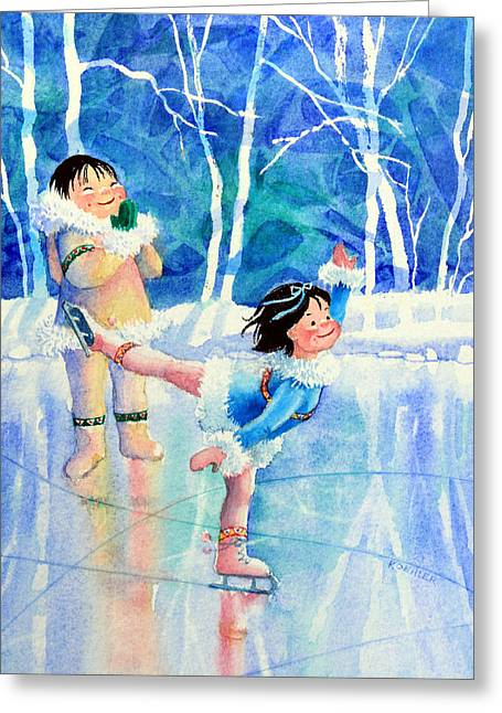 Order Kids Book Illustrations Greeting Cards - Figure Skater 15 Greeting Card by Hanne Lore Koehler