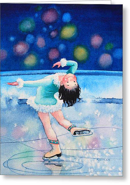 Order Kids Book Illustrations Greeting Cards - Figure Skater 16 Greeting Card by Hanne Lore Koehler