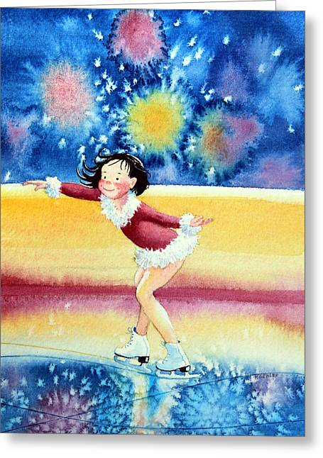 Order Kids Book Illustrations Greeting Cards - Figure Skater 17 Greeting Card by Hanne Lore Koehler