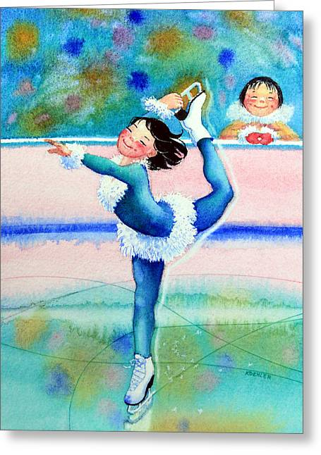 Order Kids Book Illustrations Greeting Cards - Figure Skater 19 Greeting Card by Hanne Lore Koehler