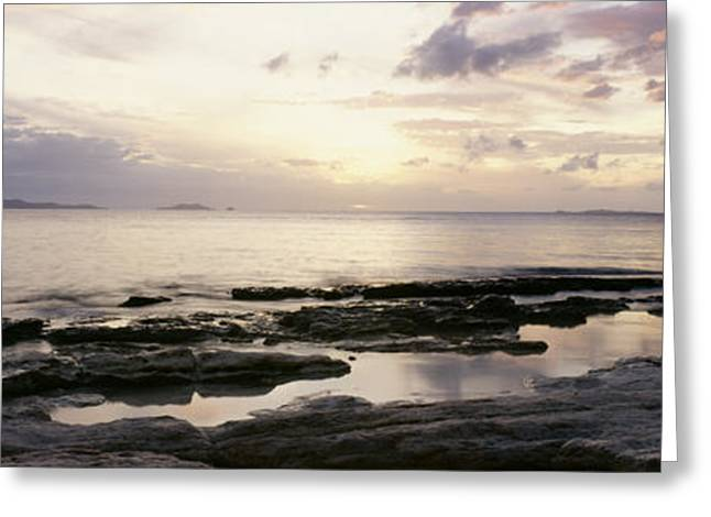 Amazing Sunset Greeting Cards - Fiji Reflections Greeting Card by Bill Schildge - Printscapes
