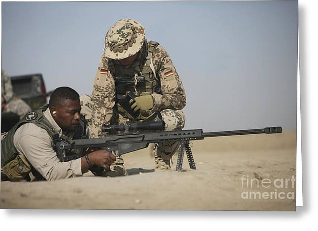 Bipod Greeting Cards - Fijian Contractor Clearing His Barrett Greeting Card by Terry Moore