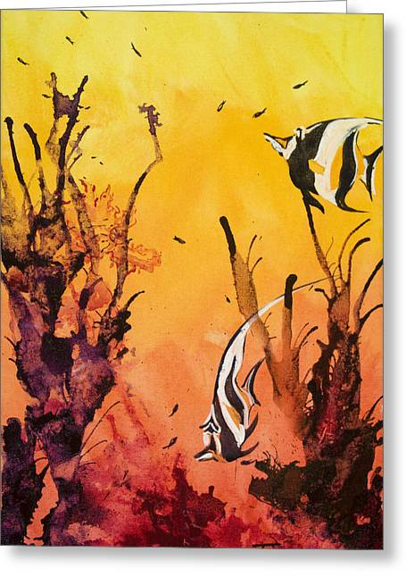 Nature Scene Paintings Greeting Cards - Fijian Friends Greeting Card by Tanya L Haynes - Printscapes