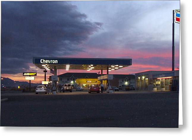 Gas Pumps Greeting Cards - Filler Up Greeting Card by Mike McGlothlen