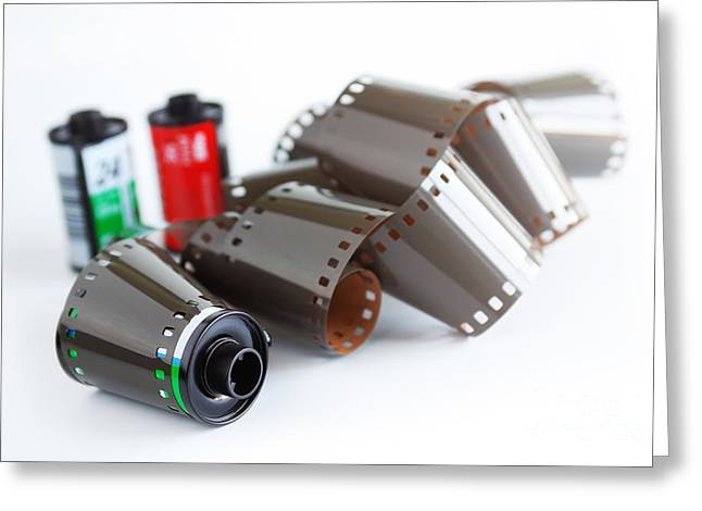 Traditional Media Greeting Cards - Film and Canisters Greeting Card by Carlos Caetano