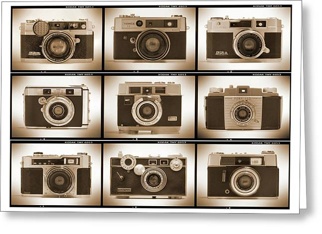 Olympus Greeting Cards - Film Camera Proofs 2 Greeting Card by Mike McGlothlen