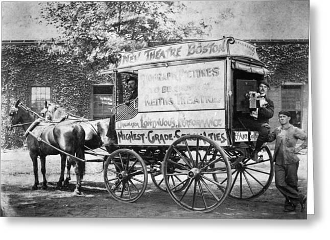 Horsedrawn Greeting Cards - Film Camera Wagon, 1898 Greeting Card by Granger