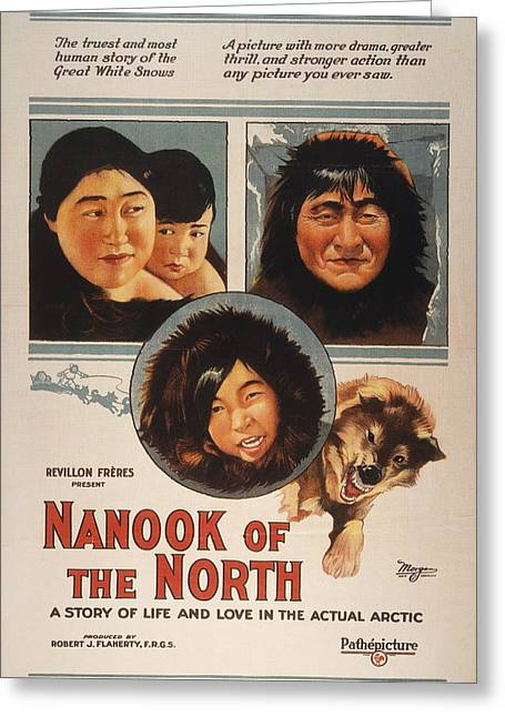 The North Greeting Cards - Film: Nanook Of The North Greeting Card by Granger