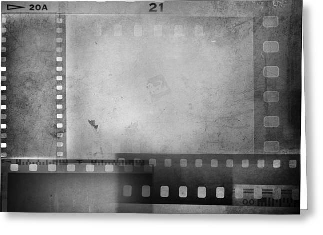 Grey Background Greeting Cards - Film negatives  Greeting Card by Les Cunliffe