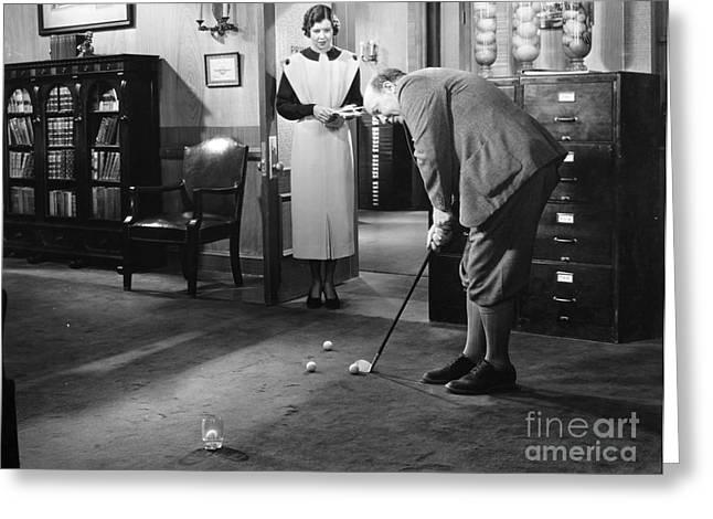 Babbitt Greeting Cards - Film Still: Babbitt, 1934 Greeting Card by Granger
