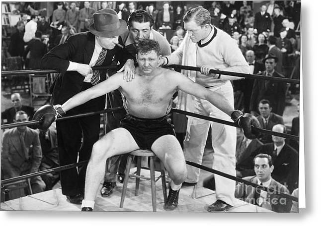 1938 Movies Greeting Cards - Film Still: Boxing Greeting Card by Granger