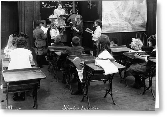 Schoolgirl Greeting Cards - Film Still: Classroom Greeting Card by Granger