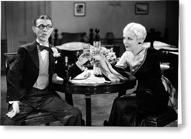 Toast Greeting Cards - Film Still: Drinking Greeting Card by Granger