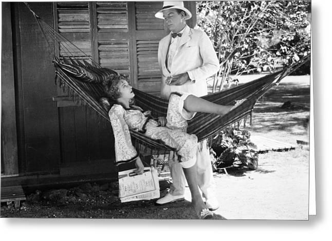 Bowtie Greeting Cards - Film Still: Hammock, 1929 Greeting Card by Granger