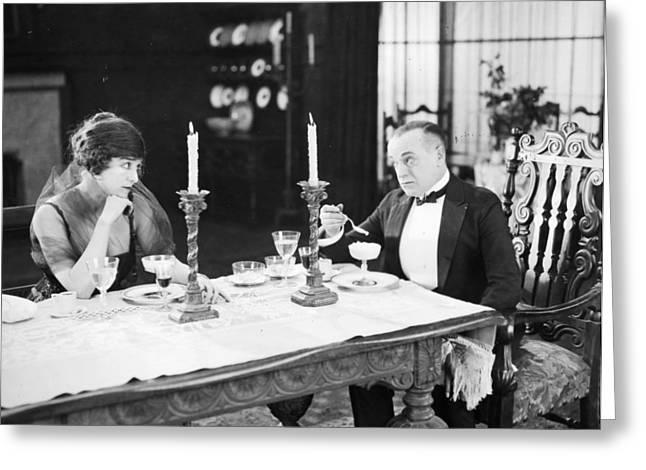 Bowtie Greeting Cards - Film Still: Mrs. Barton Greeting Card by Granger
