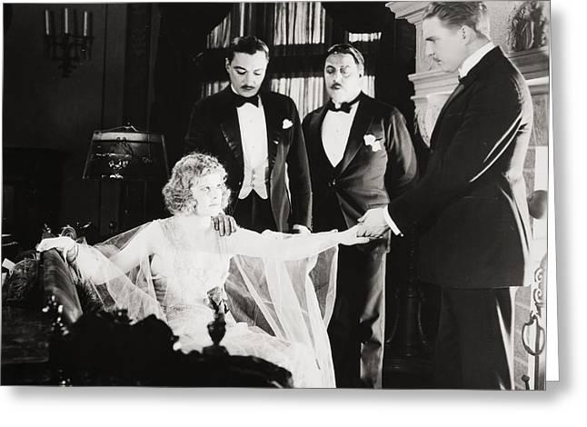 Bowtie Greeting Cards - Film Still: Phantom Foe Greeting Card by Granger