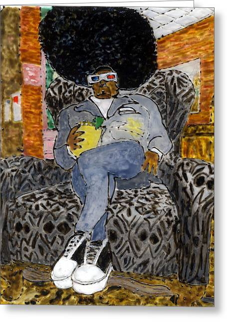 Sneakers Paintings Greeting Cards - Filthy Fluno Godfather of SLart Greeting Card by Phil Strang