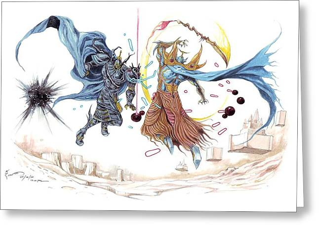 Final Fantasy Greeting Cards - Final Fantasy Dissidia Greeting Card by Dominic