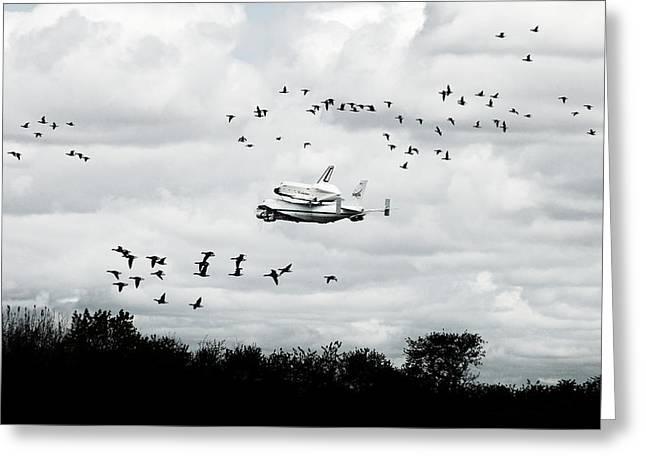 Final Flight Of The Enterprise Greeting Card by Tolga Cetin