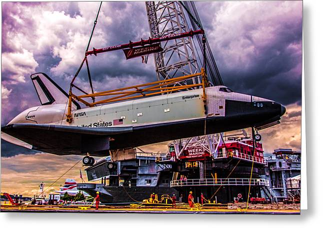 Enterprise Digital Art Greeting Cards - Final Flight of the SS Enterprise Greeting Card by Chris Lord