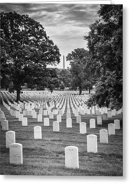 Arlington Photographs Greeting Cards - Final Rest Greeting Card by Frank Mari