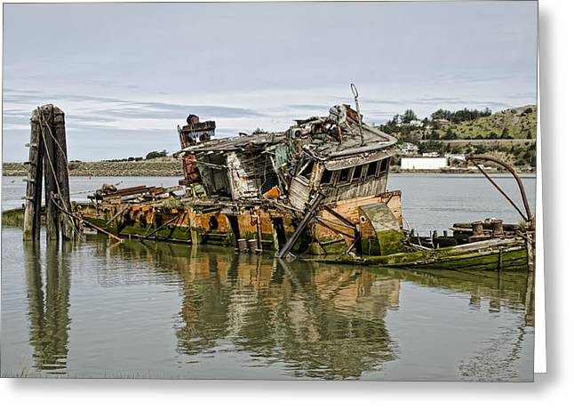 Wooden Ship Greeting Cards - Final Resting Place Greeting Card by Heather Applegate