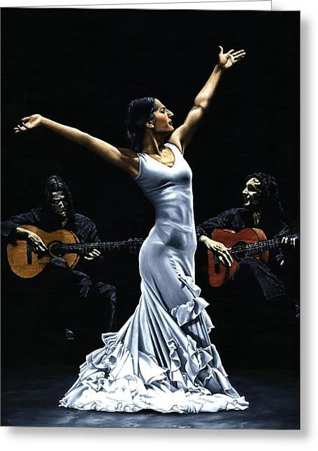Richard Young Greeting Cards - Finale del Funcionamiento del Flamenco Greeting Card by Richard Young
