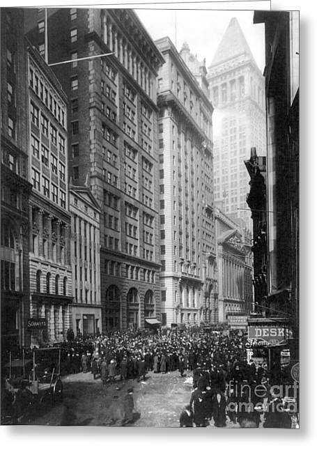 Qed Photographs Greeting Cards - FINANCIAL CENTER, c1920 Greeting Card by Granger