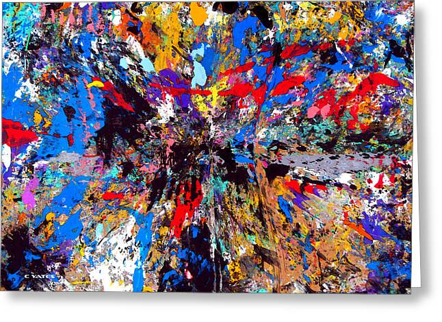 Palette Knife And Brush Greeting Cards - Finding What It Is Greeting Card by Charles Yates