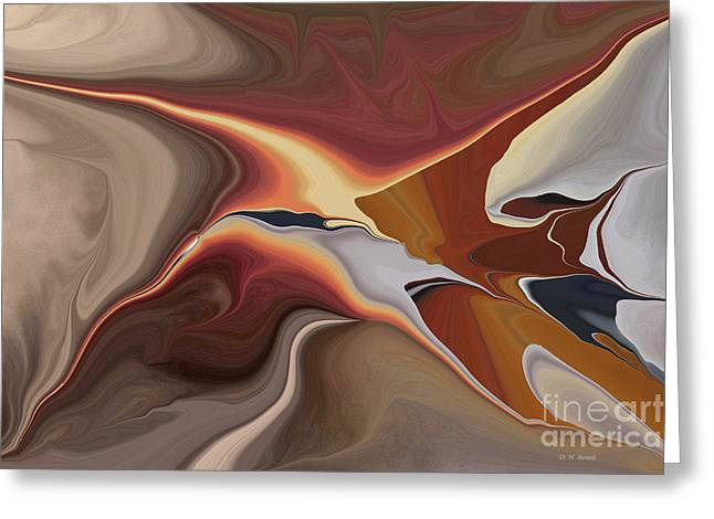 Abstract Digital Greeting Cards - Finding Your Way Greeting Card by Deborah Benoit