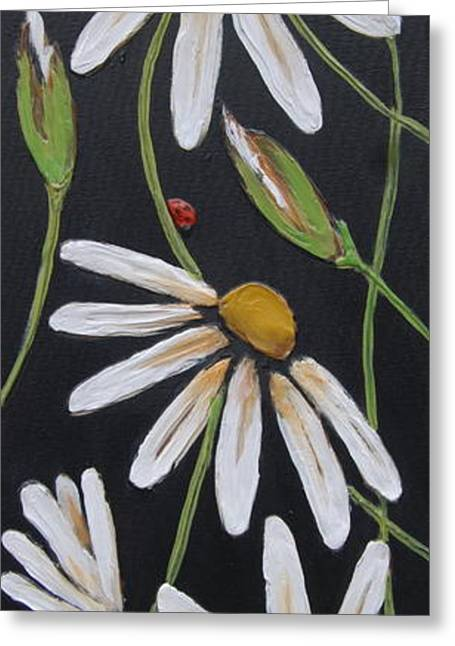 Daisy Reliefs Greeting Cards - Finding Your Way Greeting Card by Lori McPhee